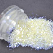 Glitter Branco Furta-cor Flocado - Glitter Blendz