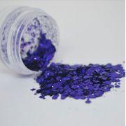 Glitter Roxo Escuro Flocado - Glitter Blendz