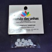 Pedraria Flor Prata - Mundo das Unhas by Suzana Depes