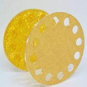 Porta Pincel Acrílico Dourado - Mundo das Unhas by Suzana Depes