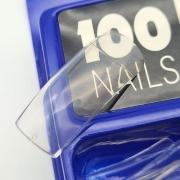 TIPS RETA FAN NAILS - 100UN