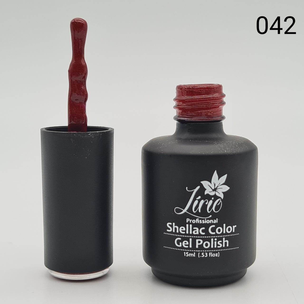 Esmalte em Gel Lírio - Vermelho Escuro com Glitter Dourado