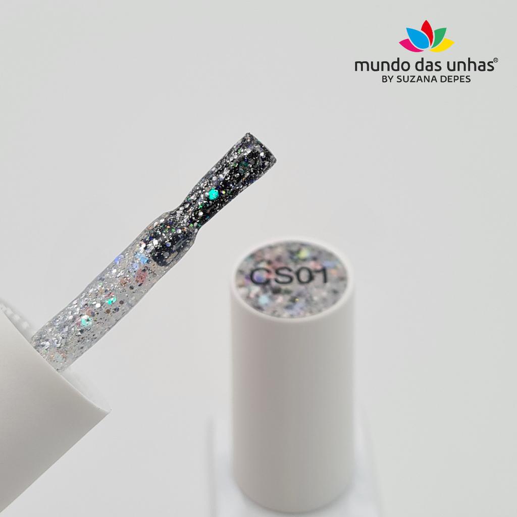 Esmalte em Gel Vitral D&Z – Glitter Flocado CS01