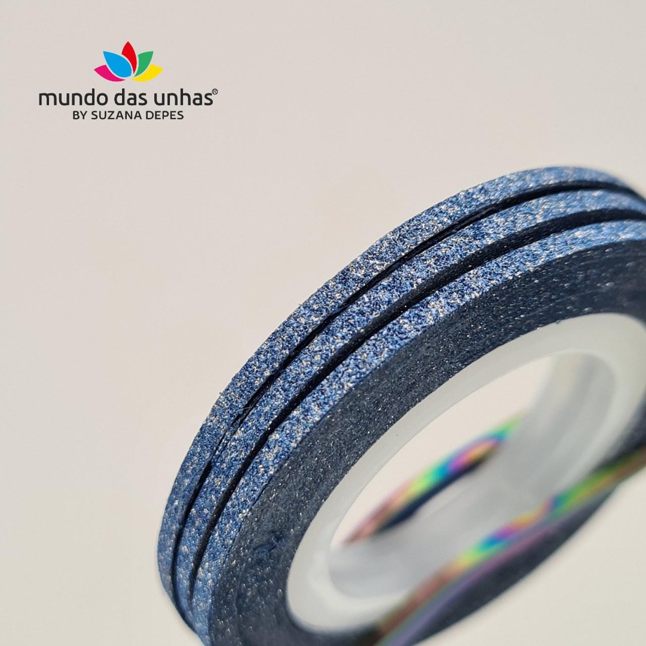 Fitilho com Glitter Azul Escuro - M