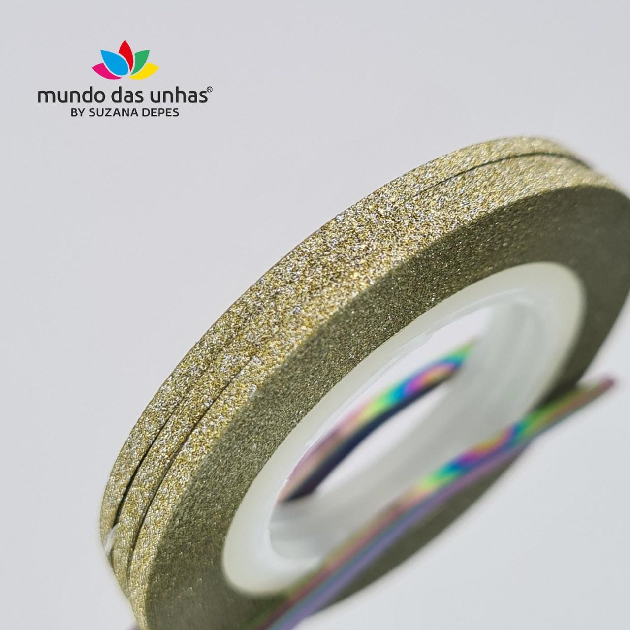 Fitilho com Glitter Dourado Claro - M