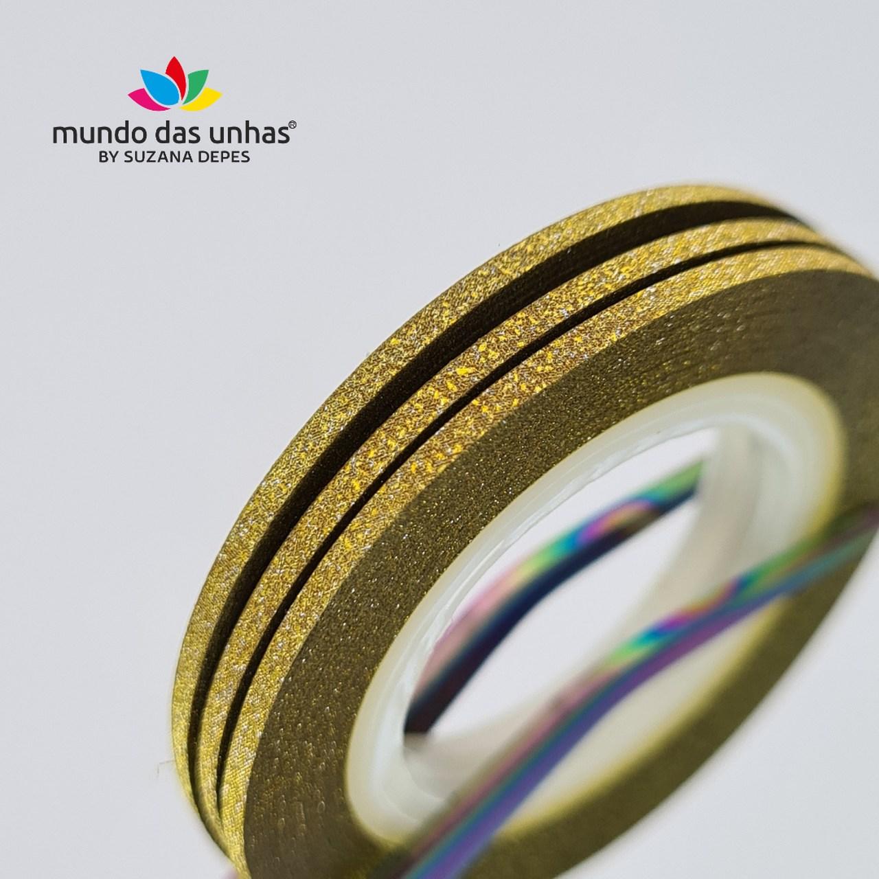 Fitilho com Glitter Dourado - M