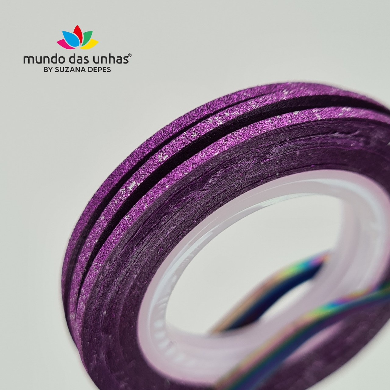 Fitilho com Glitter Roxo - M