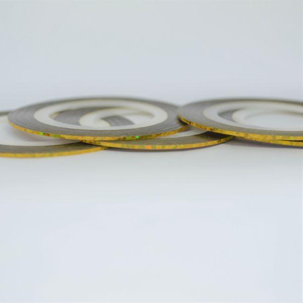 Fitilho Dourado Holográfico P 20 m - Mundo das Unhas by Suzana Depes