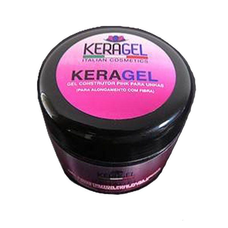 Gel Construtor Pink (Rosa) Para Unhas 15g - Keragel