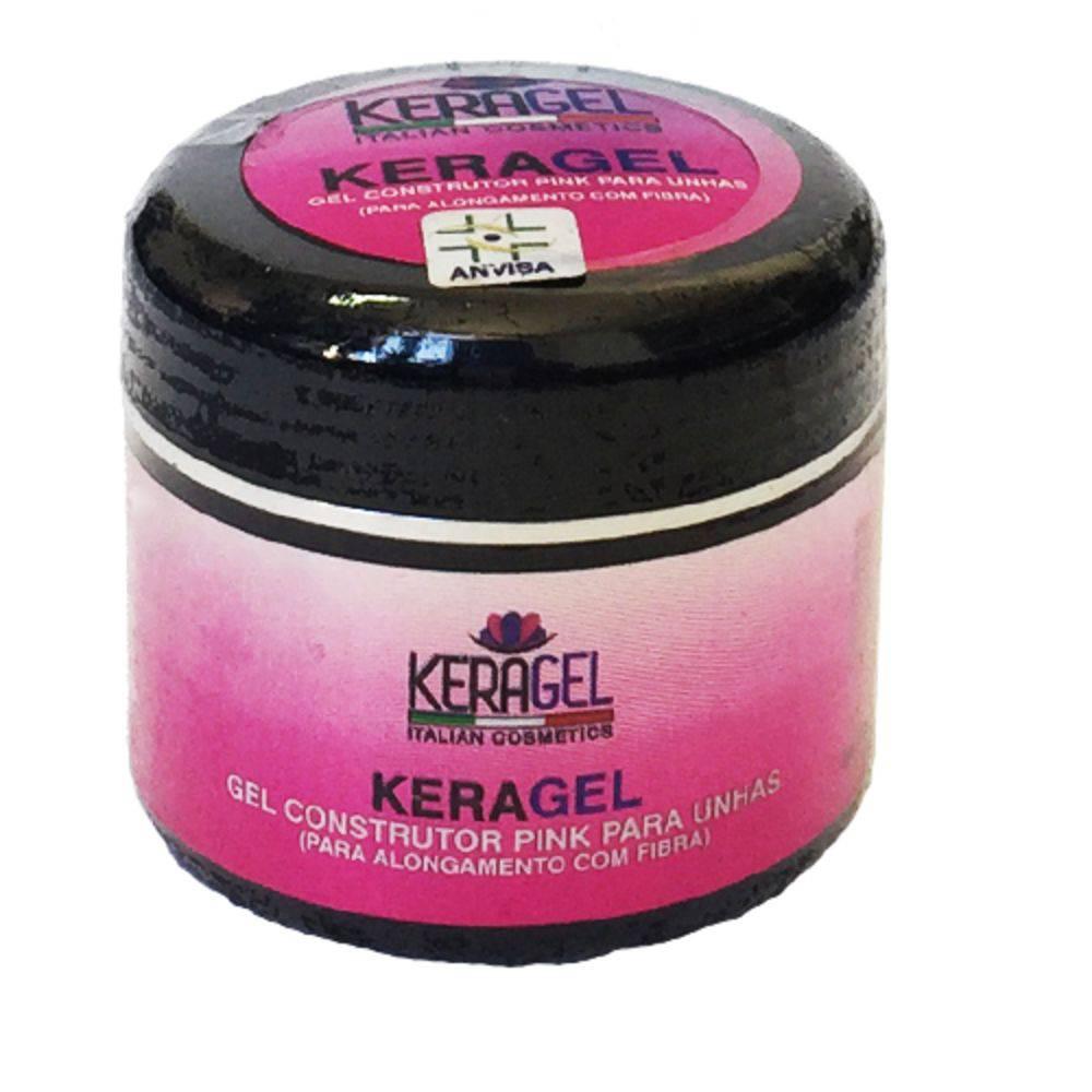 Gel Construtor Pink (Rosa) para Unhas 30g - Keragel
