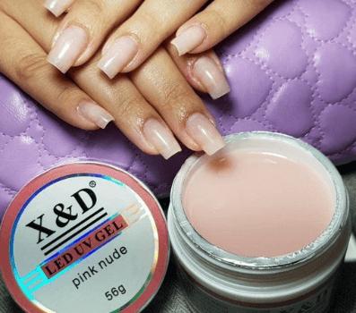 Gel LED UV Pink Nude X&D - 56g