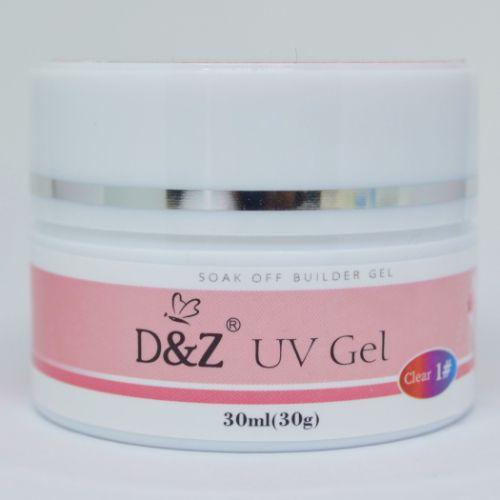 Gel Transparente UV Builder Clear 1# Para Unhas 30g - D&Z