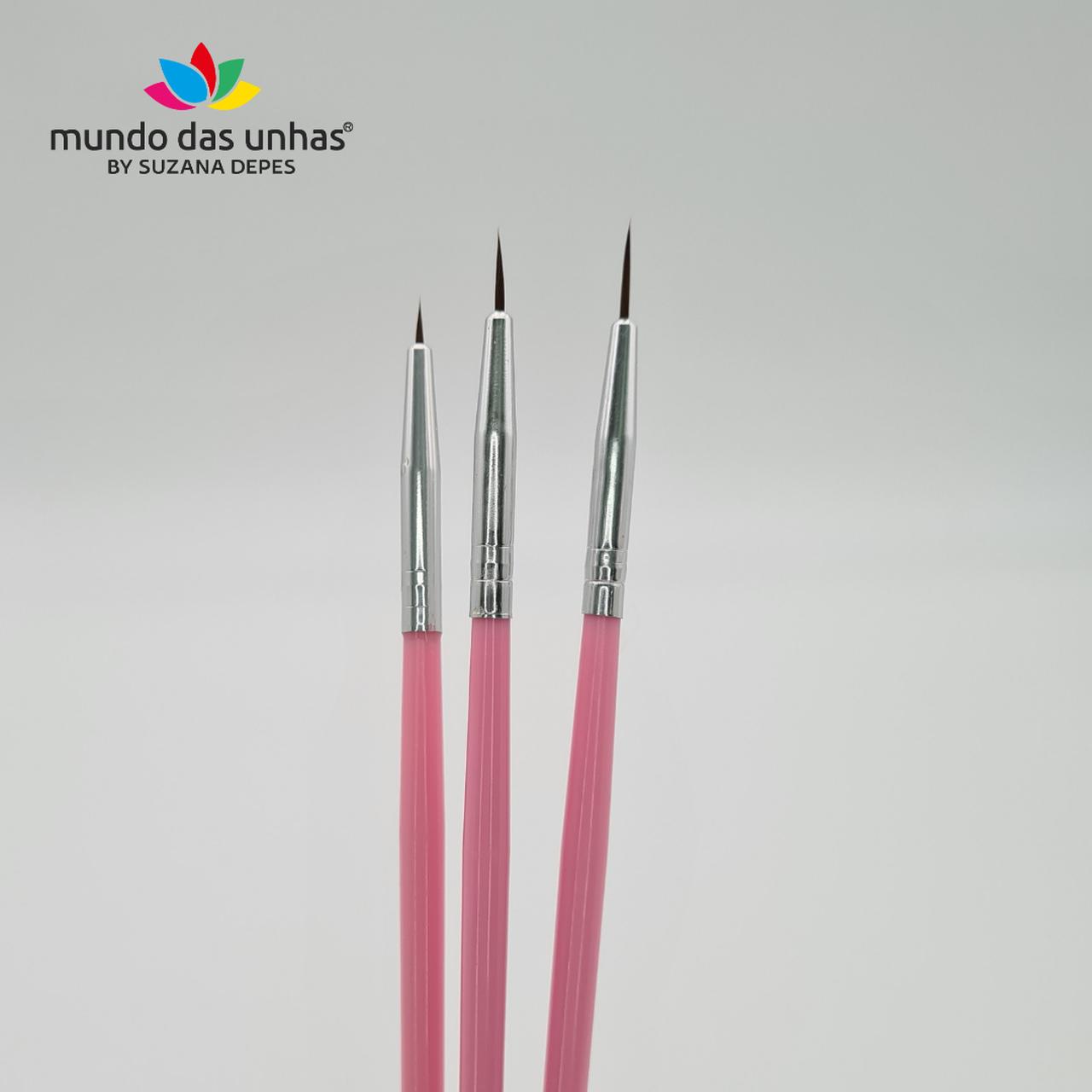 Kit Pincel Desenho Filete - Fan Nails