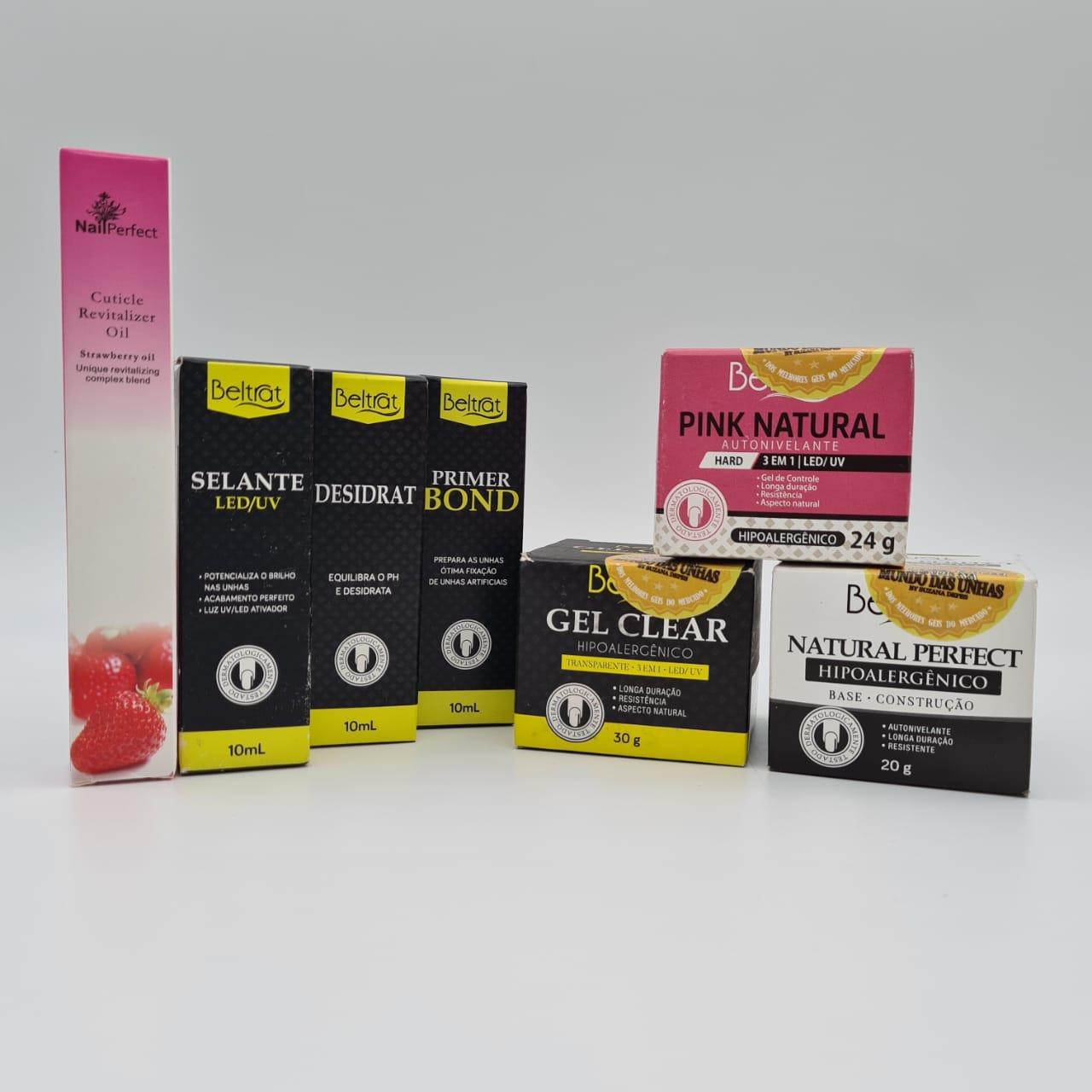 Kit Unhas em Gel Beltrat + Caneta Hidratante