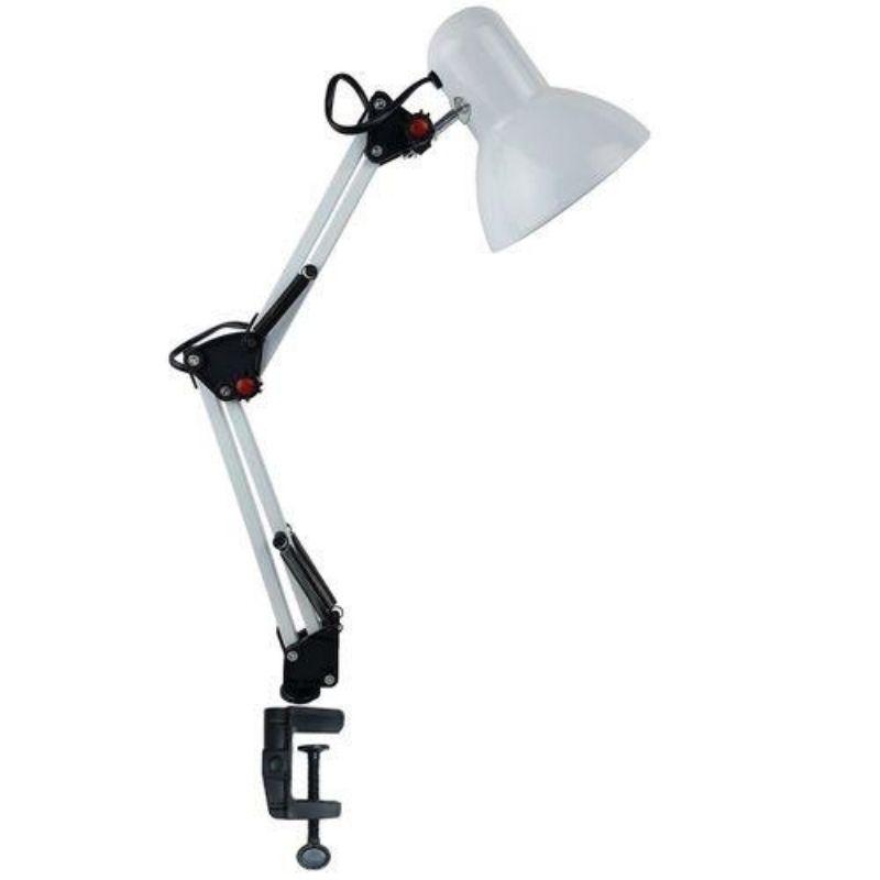 LUMINÁRIA DESK LAMP BRANCA COM GARRA
