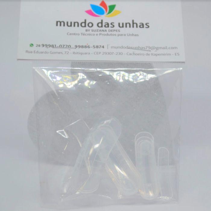Molde Reutilizável F1 12un - Mundo das Unhas by Suzana Depes