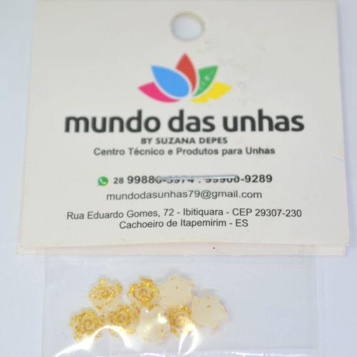 Pedraria Flor Dourada - Mundo das Unhas by Suzana Depes
