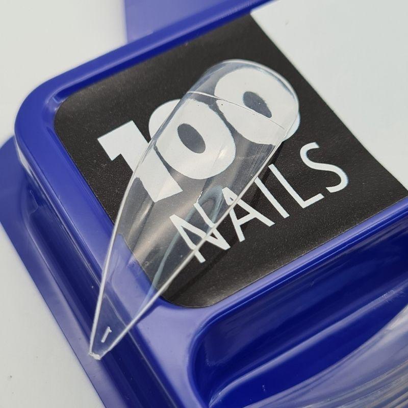 TIPS STILLETO FAN NAILS - 100 UN