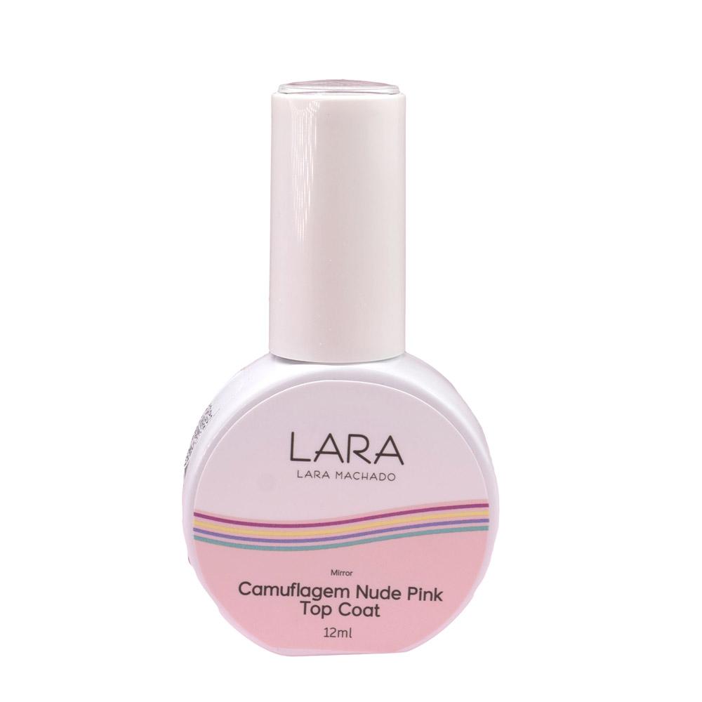 Top Coat Camuflagem Nude Pink Lara Machado - 12ml
