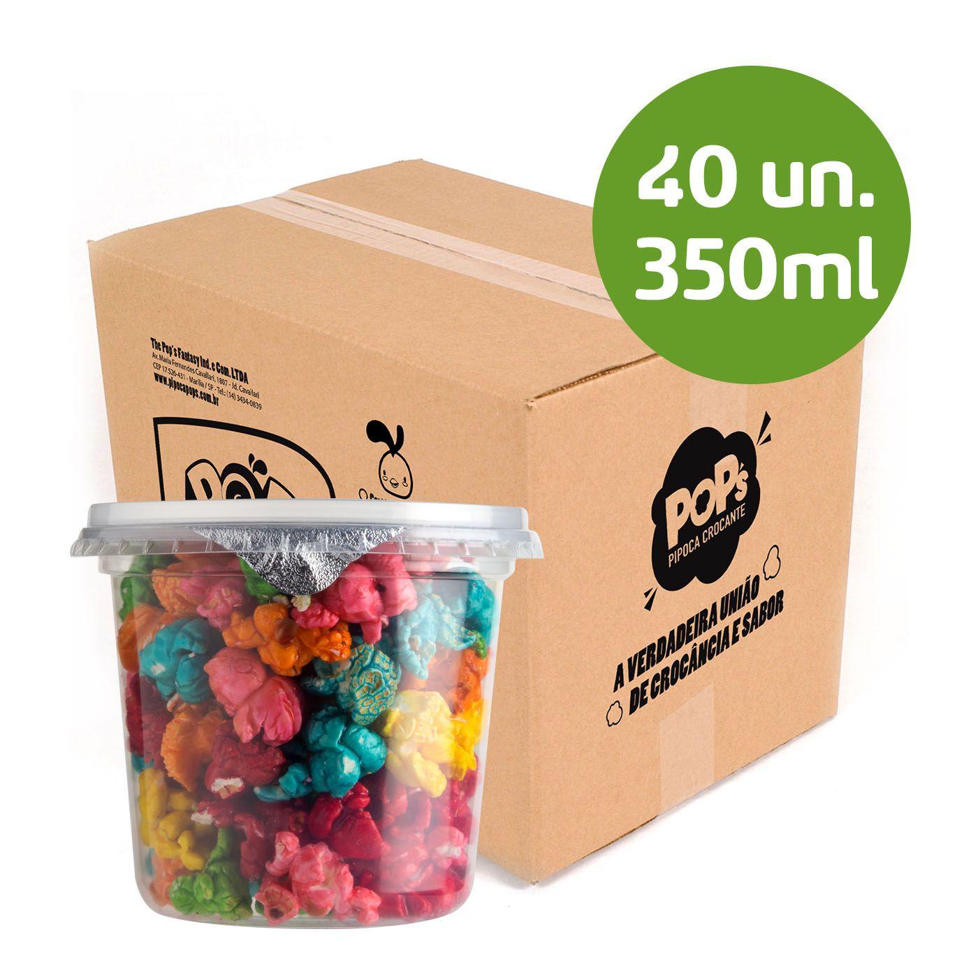 Caixa Pipoca - 350ml - 40 unidades