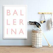 BALLERINA - Quadro decorativo em canvas