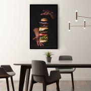 Burger Quadro decorativo em canvas