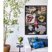 Clássicos do rock - Quadro decorativo em canvas