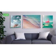 Coleção Praiana - Quadros decorativos em canvas