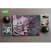 Coleção Street Art - Quadros decorativos em canvas