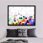 Colored hive - quadro decorativo em canvas