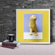 Gato arte - Quadro decorativo em canvas