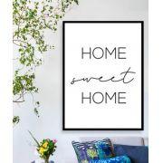 HOME SWEET HOME - Quadro decorativo em canvas