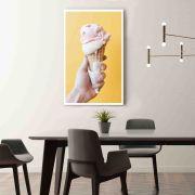 Ice Cream Quadro decorativo em canvas