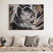 Look away - Quadro decorativo em canvas