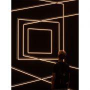 Luzes geométricas - Quadro decorativo em canvas