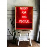 MUSIC FOR THE PEOPLE - Quadro decorativo em canvas