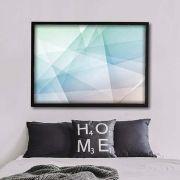 Outlines quadro geométrico em canvas
