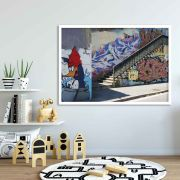 Pica pau art - Quadro decorativo em canvas