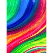 Quadro decorativo em canvas abstrato explosão de cores