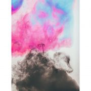 Quadro decorativo em canvas abstrato fumaça