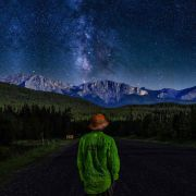 Quadro decorativo em canvas alone on the stars