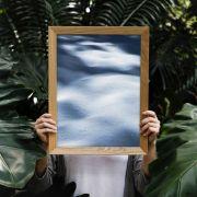 Quadro decorativo em canvas areia azul