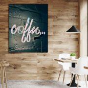 COFFEE... - Quadro decorativo em canvas