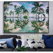 Quadro decorativo em canvas Coqueiros