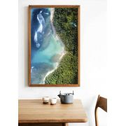 Quadro decorativo em canvas costa verde e azul