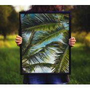 Folhas coqueiros - Quadro decorativo em canvas
