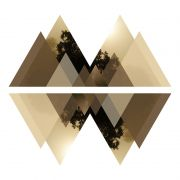 Quadro decorativo em canvas - Geometric mountains