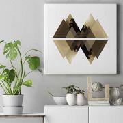 Quadro decorativo em canvas - Geometric mountains