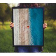 Ponto laranja - Quadro decorativo em canvas