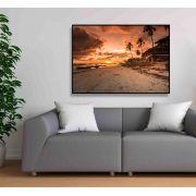 Paz e pôr do sol - Quadro decorativo em canvas